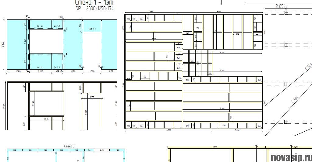 Схема дома из панелей